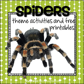 Spiders theme activities at KidSparkz