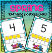 This is a set of ten-frames posters 0-20 with a Spring theme.
