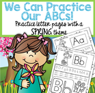 Spring theme activity printables reviewing the upper and lower letters of the alphabet - recognition, tracing, sounds