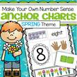 Spring theme cut and paste number posters 1-10