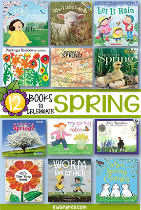 Recommended books about spring for preschool and pre-K