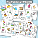 Spring flashcards 4 to a age, and 9 to a page. MEMBERS