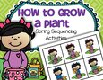 How to Grow a Plant sequencing centers and small group activity.  11 pgs.