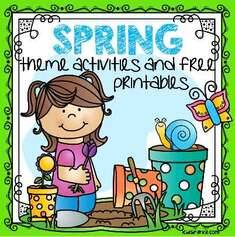 Spring theme activities and printables for preschool and kindergarten