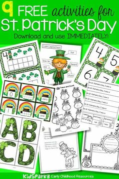 St Patrick's Day preschool activities and printables