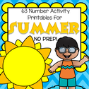 Summer theme number printables