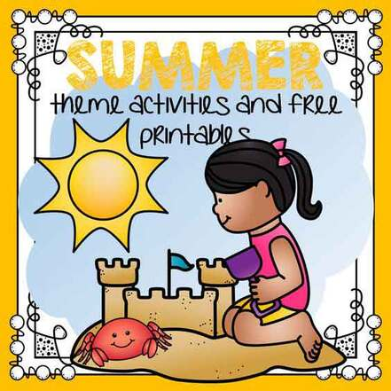Summer preschool theme activities and free printables.