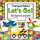 Set of 20 transportation theme foldable booklets - each booklet is on one page