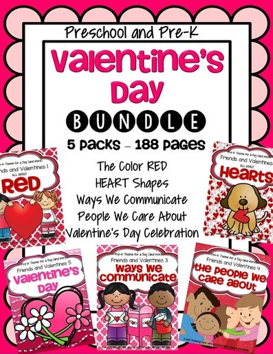 Valentine's Day curriculum bundle for preschool and preK
