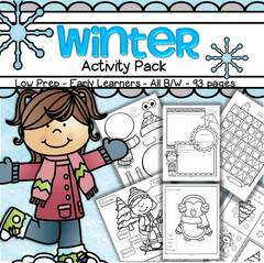 winter activity pack no prep