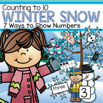 Winter snowflakes counting to 10 hands-on center for preschool and kindergarten