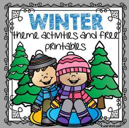 winter theme activities and free printables