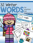 32 winter vocabulary words - word wall plus activities.