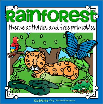 image about Rainforest Printable named Rainforest topic things to do and printables for Preschool
