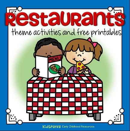 Restaurants theme activities for preschool