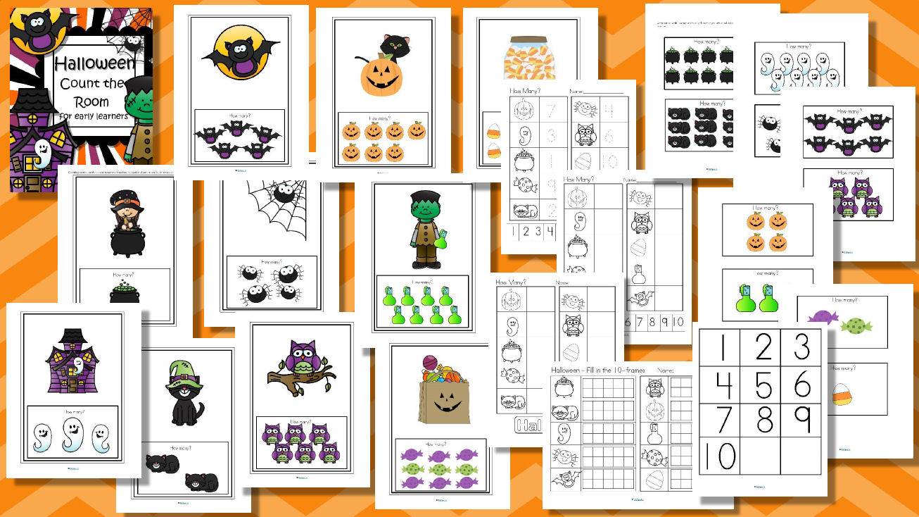 halloween count the room - simplified and engaging for preschoolers