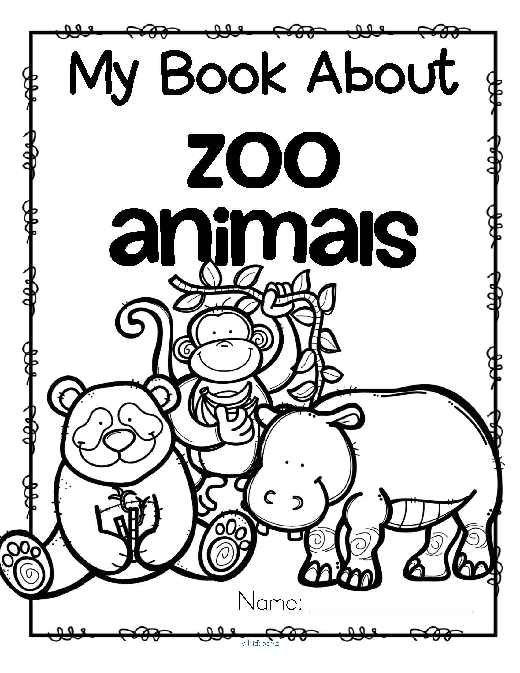Zoo Animals Theme Activities And Printables For Preschool Kidsparkz