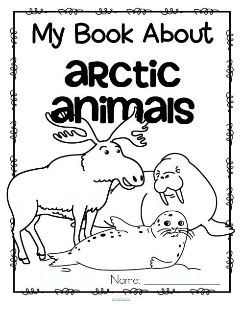 Arctic animals and penguins activities for preschool prek for Polar animal coloring pages