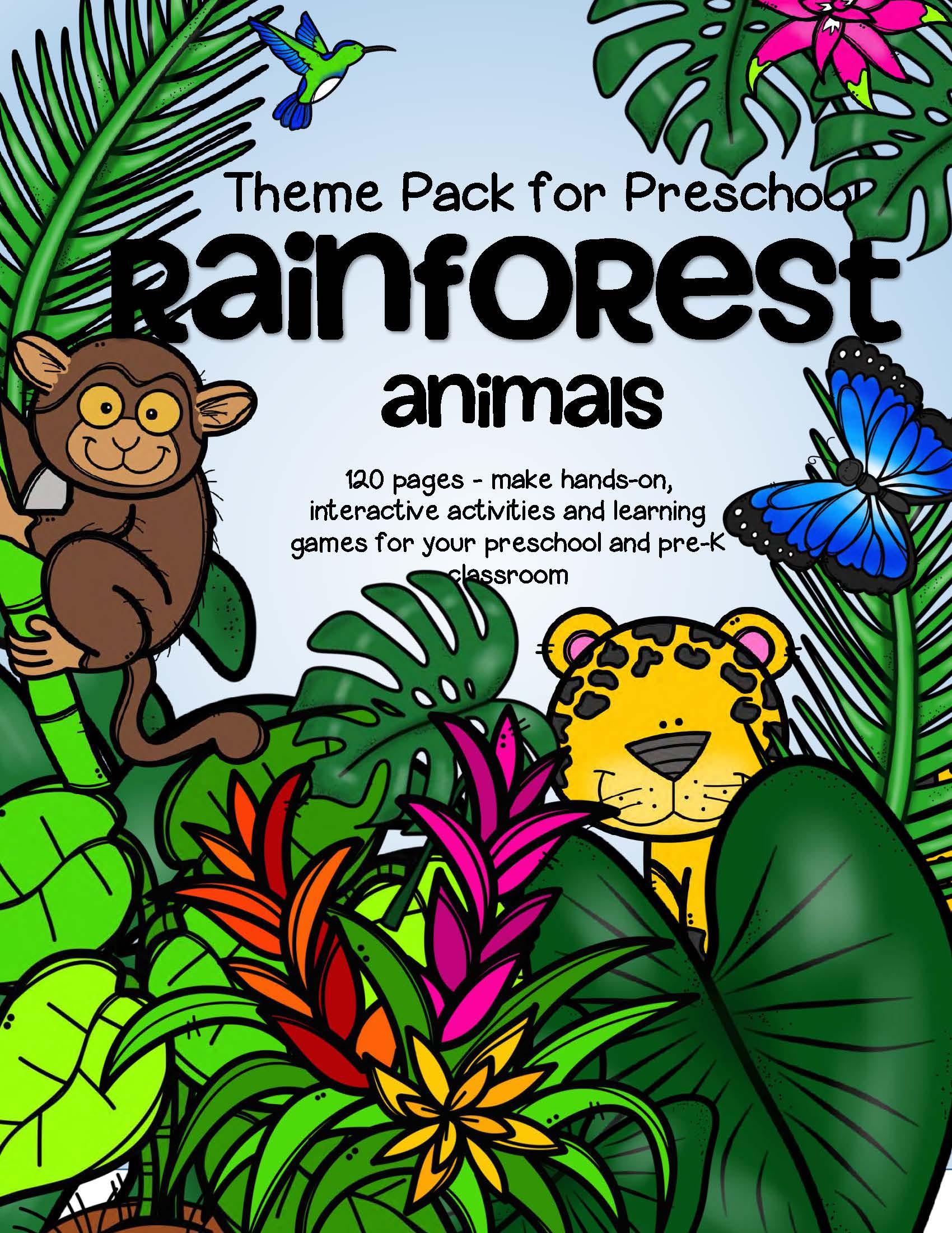 RAINFOREST ANIMALS Theme Pack for Preschool