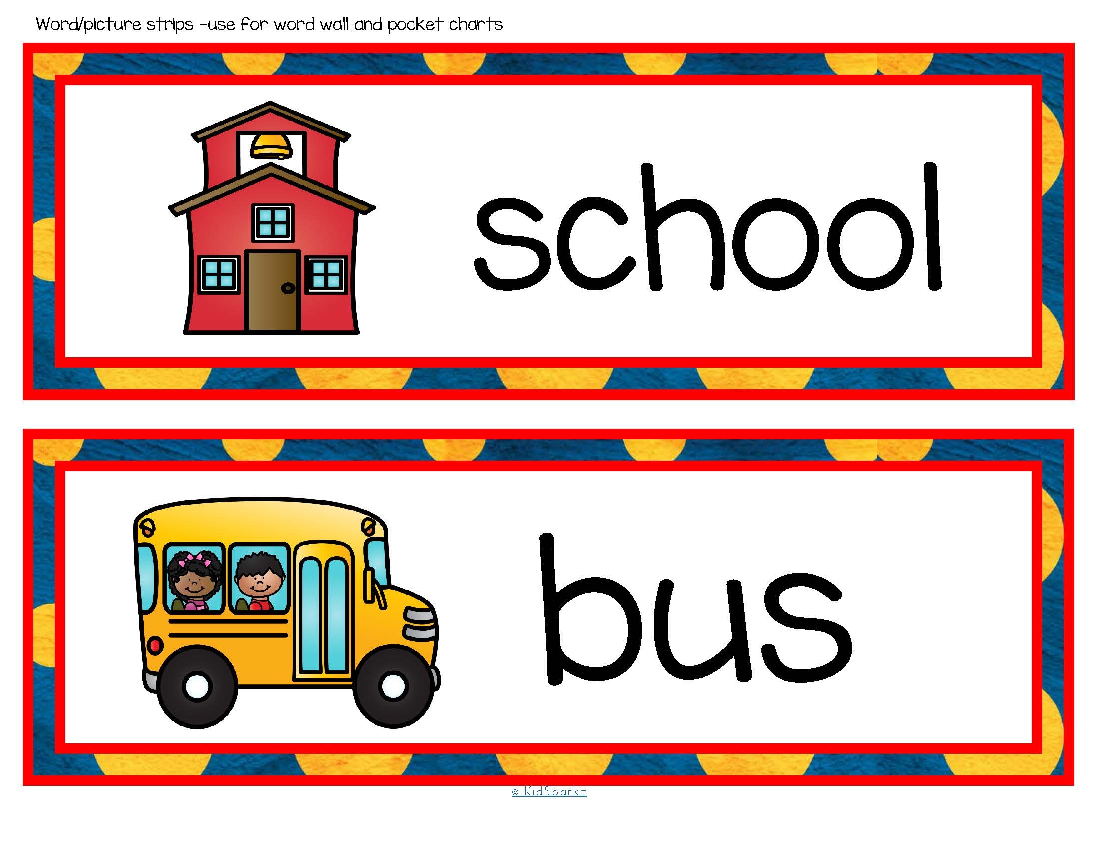 BACK to SCHOOL Vocabulary Center & Group Activities for