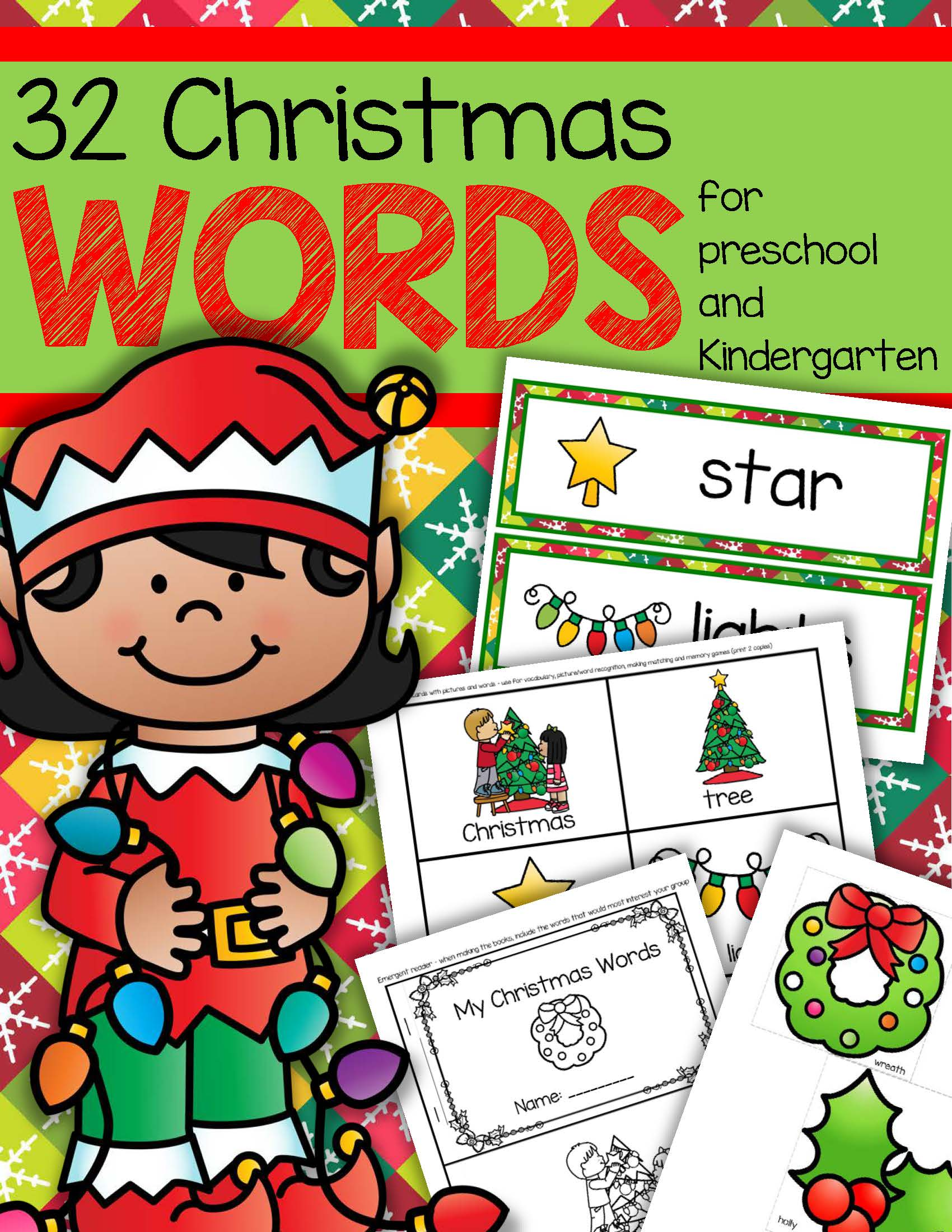 CHRISTMAS Vocabulary Center & Group Activities for Preschool ...