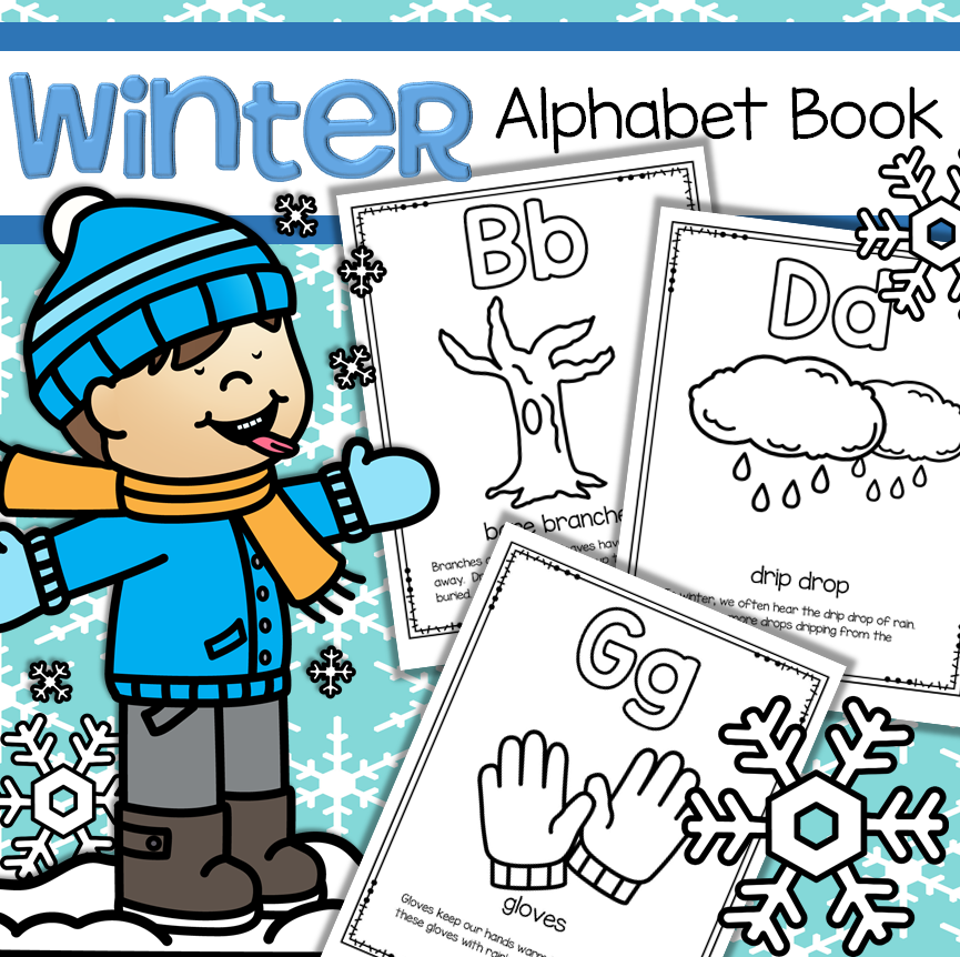 graphic regarding Alphabet Book Printable identify Wintertime Alphabet Guide - Letters, Wintertime Thoughts, Interactive Printables