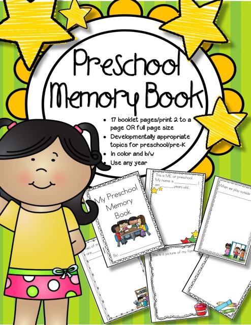 Kindergarten Memory Book Cover Ideas ~ Preschool memory book