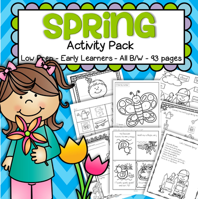 Spring printable pack for preschool and kindergarten no-prep