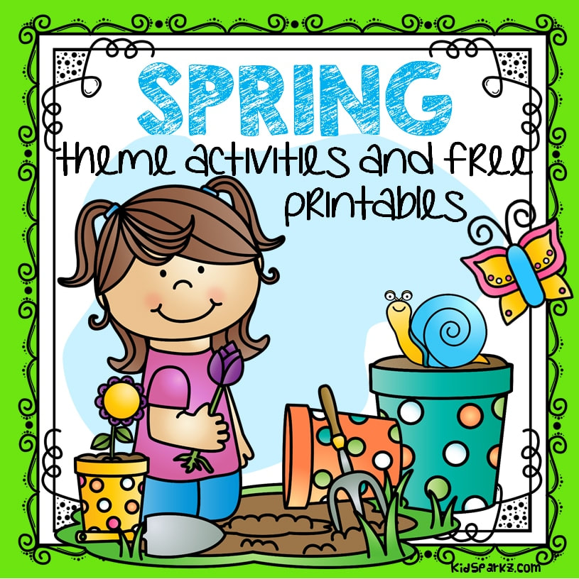 Free spring activities and printables for preschool and kindergarten