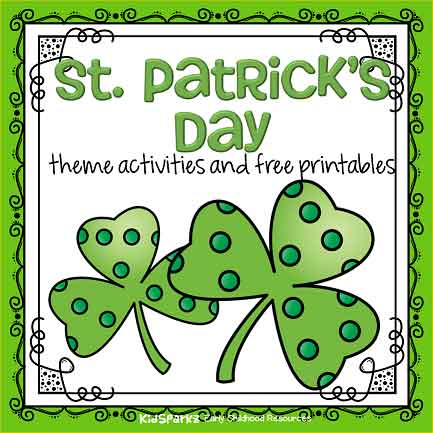 St Patrick's Day monthly preschool theme for March