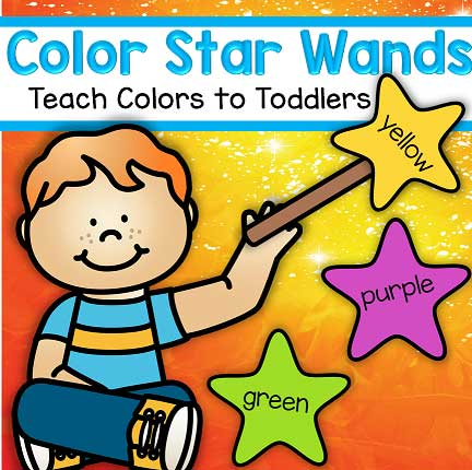 Easily teach colors with these star color wands. 11 colors.