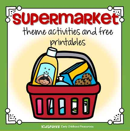 Supermarket theme activities for early learners