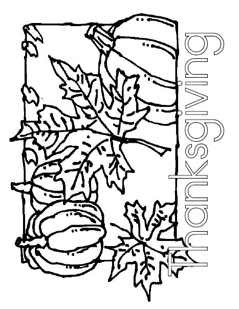 Thanksgiving coloring poster