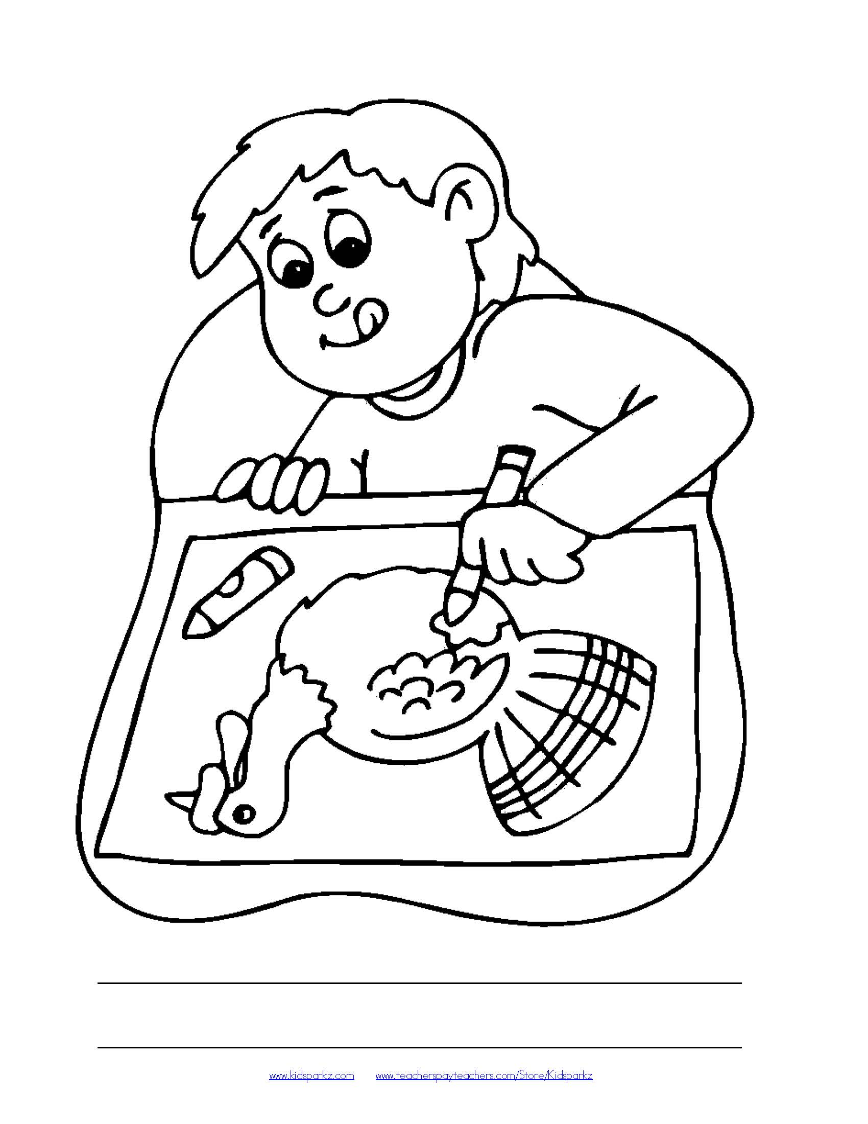 Thanksgiving themed oral language coloring pages (12)