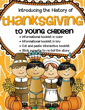 Thanksgiving - introducing the history to preschoolers with hands-on activities
