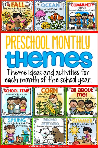 Preschool monthly themes list