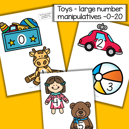 Toys large numbers 0-20.