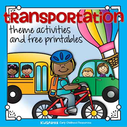 Transportation theme activities and printables