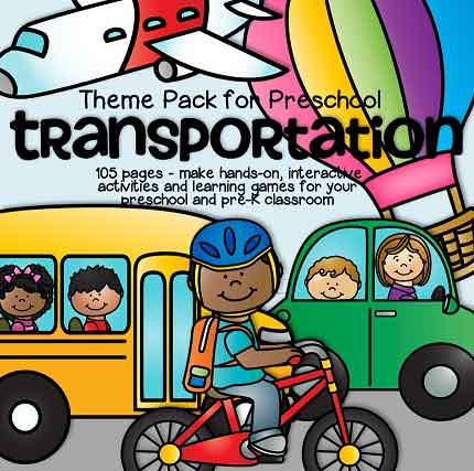 TRANSPORTATION Prep Pack for Preschool 101 pgs