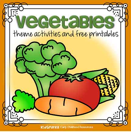 Vegetables theme activities and printables