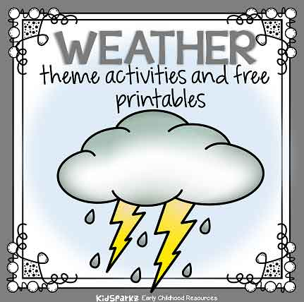 Weather Theme Activities And Printables For Preschool, Pre-K And  Kindergarten - KIDSPARKZ